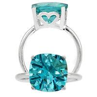 Paraiba Tourmaline Cushion Shape 925 Sterling Silver Ring Jewelry DRR1095_B
