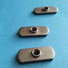 Double Tab Spot Weld Nuts, Steel, Plain 5/16-18 Quantity 20