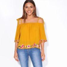 Camicia da donna gialli viscosi