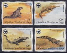Kongo-Brazzaville Mi-Nr. 1063 - 1066 **, WWF - Krokodile / Crocodiles (14 ME)