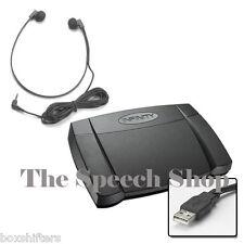 Infinity IN-USB2 Digital Transcription Foot Pedal & Transcription Headset *BNIB*