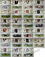 (Lot of 23) Complete Collection of Dog Puppy Animal Novelty Bill Notes Money