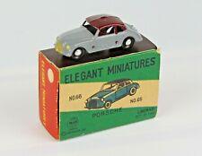 Vintage Linemar Elegant Miniatures Japan No 66 Porsche With Box Blue Euc Scarce