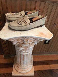 Christian Dior Mens Shoes Loafers Monsieur Tassel Band Size 9 Beige Soft