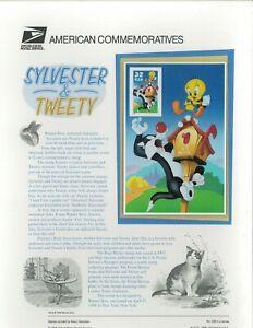 USPS Commémorative Panneau #538 Sylvester & Tweety #3204