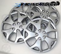 "Metallic Silver 4pcs Set #618 14/"" Inches Hubcaps Hub Cap Wheel Cover Rim Skin"