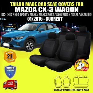 Car Seat Covers To Fit MAZDA CX-3 CX3 01/2015 - Current Black Airbag Safe!