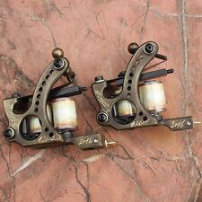 handmade coil tattoo machine gun brass frame set liner and shader (pack of 2)