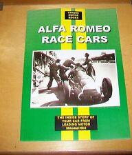 ALFA ROMEO RACE CARS MAGAZINE ARTICLE REPRINTS BOOK. UMB. MOSTLY 1930's CARS