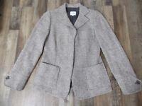 Armani Collezioni Womens 4 Gray Tweed Wool Blend Button Front Blazer Jacket