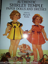 Authentic SHIRLEY TEMPLE PAPER DOLLS AND DESSES By Marta Kerns 1991 VINTAGE New