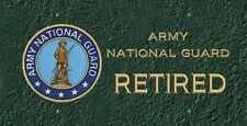 Army National Guard Retired License Plate -LP356