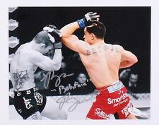 "RYAN ""BABY FACE"" BENOIT SIGNED UFC FIGHT vs JOSH SAMPO TUF18 FINALE 8x10 JSA COA"
