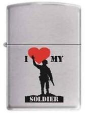 NEW Zippo I 🖤 MY SOLDIER Lighter No. 200
