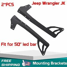 "Upper Windshield Mount Bracket For 50""inch LED Light Bar Jeep Wrangler JK 07-17"