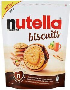 NUTELLA BISCUITS BISCOTTI KINDER FERRERO CON RIPIENO ALLA NUTELLA SNACK 304 gr