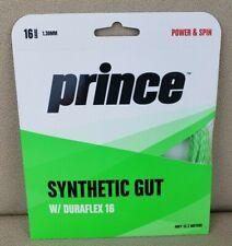 Prince 1.30 mm Synthetic Gut w/ Duraflex 16 Green
