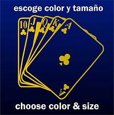 Sticker Vinilo - Poker - Escoge color y tamaño -Pegatina - Wall Decall