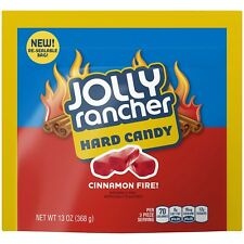 NEW SEALED JOLLY RANCHER HARD CANDY CINNAMON FIRE 13 OZ RESEALABLE BAG FREE SHIP