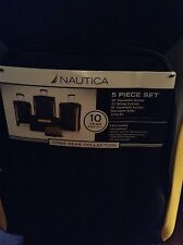 NAUTICA blue and yellow 24 inch rolling suitcase