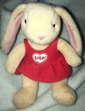 "paulette coufur tiny baby bunny rabbit build a bear 4"""