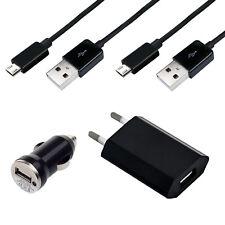 4in1 Micro USB 2.0 Kabel Kfz Stecker Ladegerät Adapter für Sharp B10 SCHWARZ