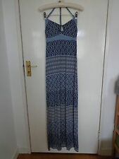 Guess Jeans Azul/Crema Maxi Vestido en Pequeño (Reino Unido 8)