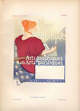 VAN RYSSELBERGHE Affiches Etrangeres 1897 Stone Litho Poster LA LIBRE ESTHETIQUE