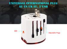 Universal Oversea World Travel Adapter/Converter Dual USB Plug Power AU/UK/US/EU