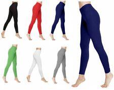 Kids Girls Plain Cotton Thick Full Length Leggings Children Fancy Hot Party Pant