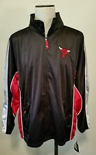 Official NBA Chicago Bulls Starter Track Jacket Red Black Size Lg New with Tags!