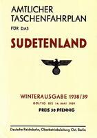 Amtlicher Taschenfahrplan für das Sudetenland 1938/1939 -Reprint- (DR/Fahrplan)