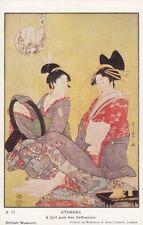 JAPAN : UTAMARO-A Girl and her Reflections-WATERLOW