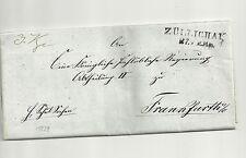 Pr Vor / ZÜLLICHAU 27. FEB, L2 a. Kab.-Brief 1839 n. Ffo.