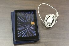 Amazon Kindle Fire w. Blue Swivel Case and Charger