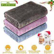 Dog Puppy Cat Blankets Soft Fluffy Soft Warm Pet Throw Bed Couch Sofa Blanket