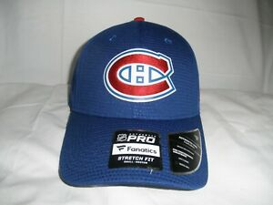 FANATICS AUTHENTIC PRO MONTREAL CANADIENS STRETCH FIT HAT NHL SIZE S/M NWT'S
