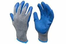 Mens Knit Work Gloves Textured Rubber Latex Coated Construction 12 Pairs Large