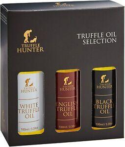 TruffleHunter Truffle Oil Selection Gift Set - White, English, Black Truffle Oil