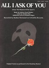 All I Ask Of You - Barbra Streisand - 1986 Sheet Music