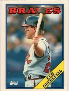 1988 Topps Tiffany Baseball Atlanta Braves Team Set