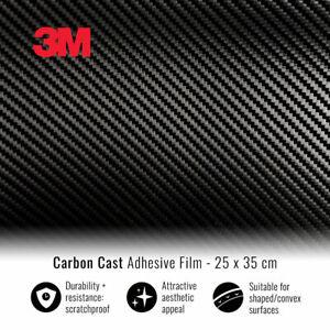 Pellicola Adesiva 3M per Car Wrapping Carbonio 25 x 35 cm