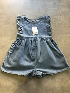 NEXT Girls Age 18 - 24 Months Denim Play Suit - New With Tags