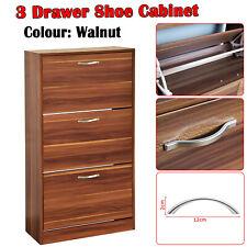 Shoe Cabinet Storage Organiser Racks Shelf Cupboard 3 Drawer Footwear Stand Unit
