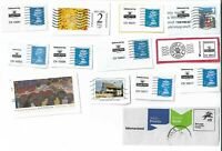 UK pre-paid stamps/ clippings from envelopes - postcards x 10 (Batch 1)