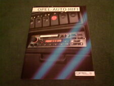 1984 1985 OPEL HI FI / IN CAR ENTERTAINMENT Kadett Manta Senator GERMAN BROCHURE