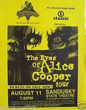 "ALICE COOPER THE EYES OF ALICE COOPER TOUR"" 2003 SANDUSKY, OHIO CONCERT POSTER"