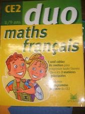 Maths Français Duo CE2 8/9 ans - Magnard - 2002 Cahier soutien - Manuel scolaire