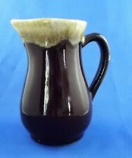 """Brown Drip Pitcher Small 6"""" Marked USA  EUC"""