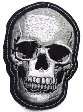 Skull Skeleton Patch Jolly Roger Biker Pirate Iron Sew On Badge Death halloween